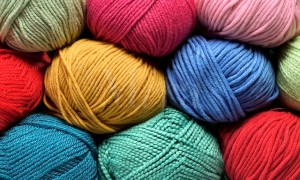 Balls of Colorful Yarn (cotton, wool & synthetic fibers)
