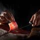destacada cortar jamón